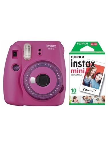 Fujifilm instax mini 9 Mor Fotograf Makinesi & 10'lu Film Renkli